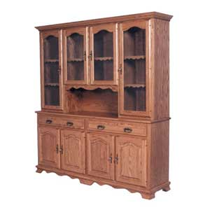 Simply Amish Classic 4 Door Hoosier Hutch