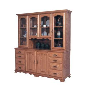 Simply Amish Classic 8 Drawer Hoosier Hutch