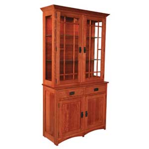 Simply Amish Prairie Mission 2-Door Hutch