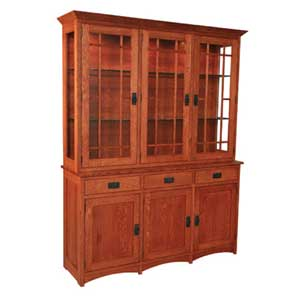 Simply Amish Prairie Mission 3-Door Hutch