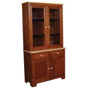 Simply Amish Shaker Amish 2-Door Closed Hutch