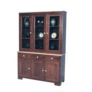 Simply Amish Shaker Amish 3-Door Closed Hutch