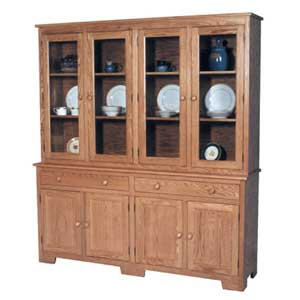 Simply Amish Shaker Amish 4-Door Closed Hutch