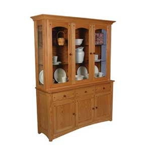 Simply Amish Royal Mission Closed Hutch with 3 Arch Doors