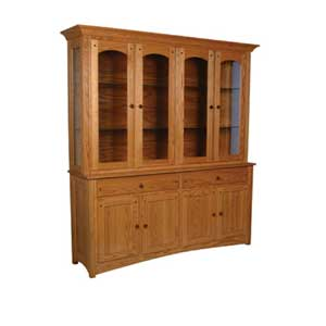 Simply Amish Royal Mission Closed Hutch with 4 Arch Doors