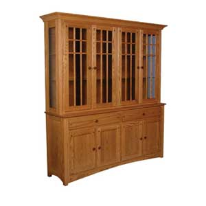 Simply Amish Royal Mission Closed Hutch with 4 Mullion Doors
