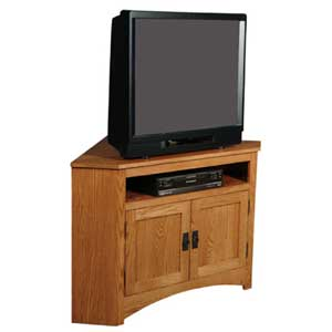 Simply Amish Prairie Mission Open Corner TV Stand