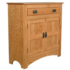 Simply Amish Prairie Mission 1-Drawer Pie Safe