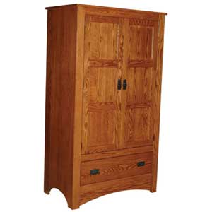 Simply Amish Prairie Mission Pantry Cabinet