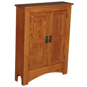 Simply Amish Prairie Mission Media Storage Cabinet