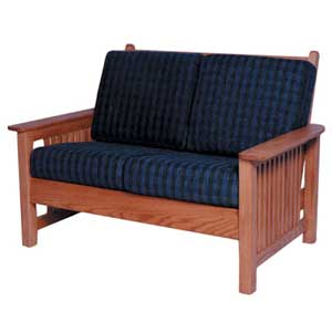 Simply Amish Mission Amish Loveseat