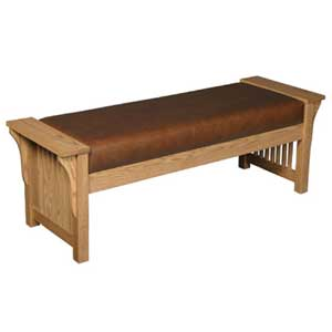 Simply Amish Prairie Mission Mission Bench