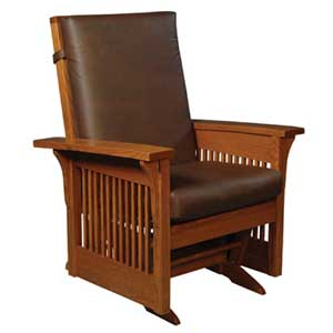 Simply Amish Prairie Mission Lounge Glider