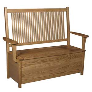 Simply Amish Prairie Mission Storage Bench