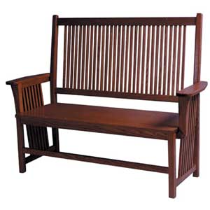 Simply Amish Prairie Mission Bench