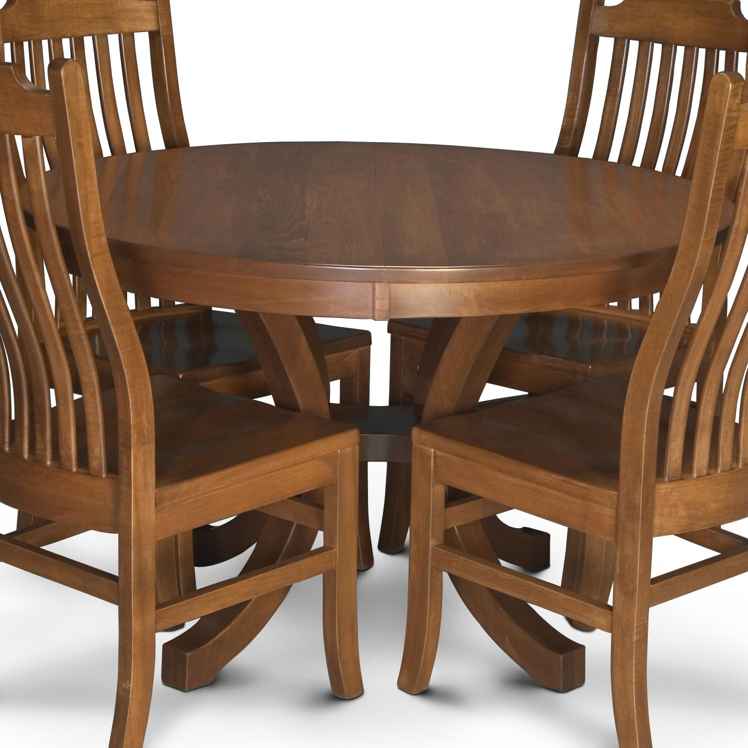Simply Amish Loft Nbl4848 2 Round Pedestal Table With 2