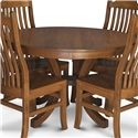 Simply Amish Loft Round Table - Item Number: XS28-NBL4848-2