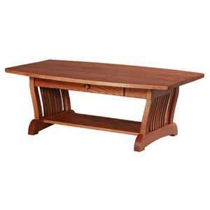 Simply Amish Royal Mission 1-Drawer Coffee Table