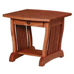 Simply Amish Royal Mission Drawer End Table