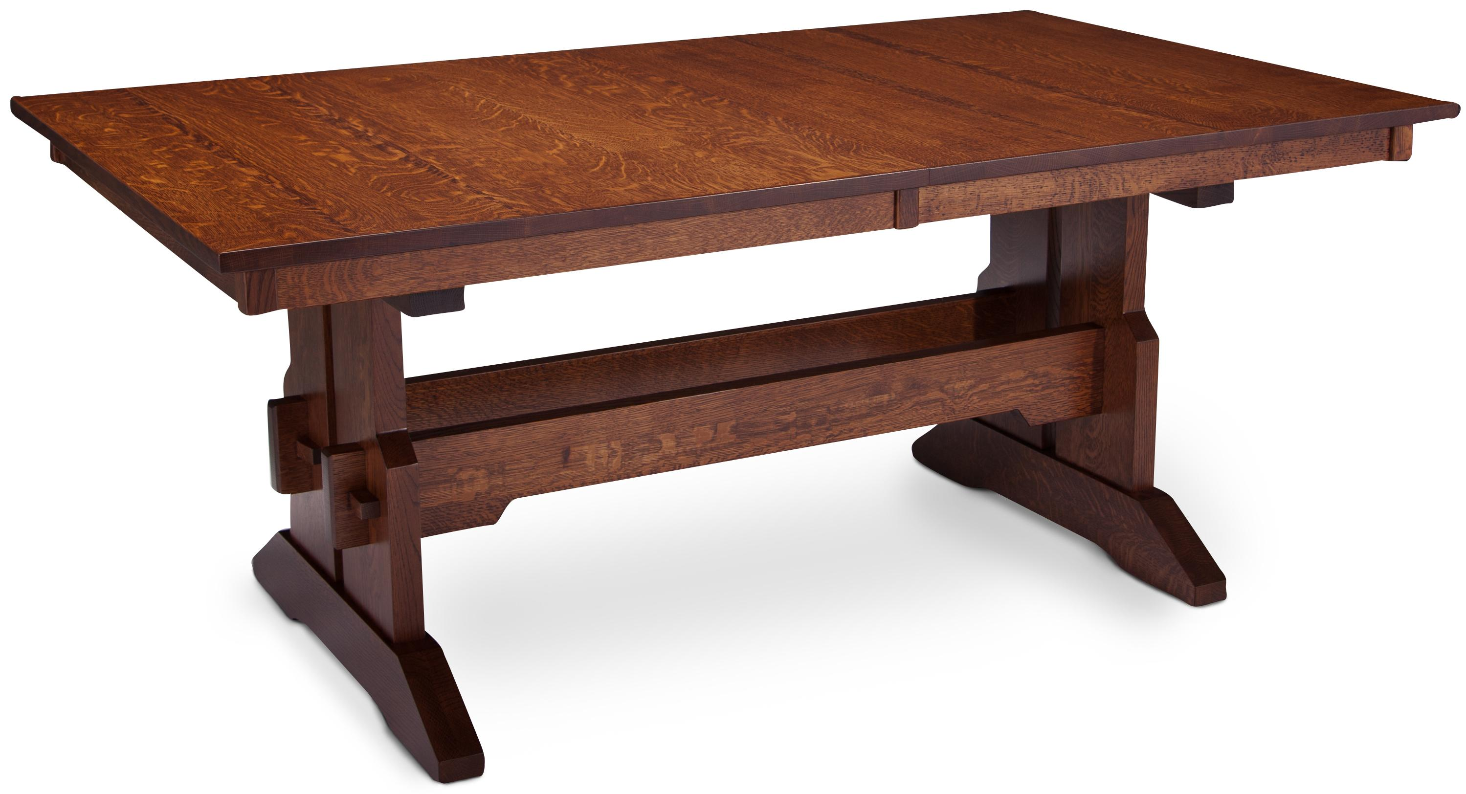 Simply Amish Maryan Franklin Trestle Table W Butterfly