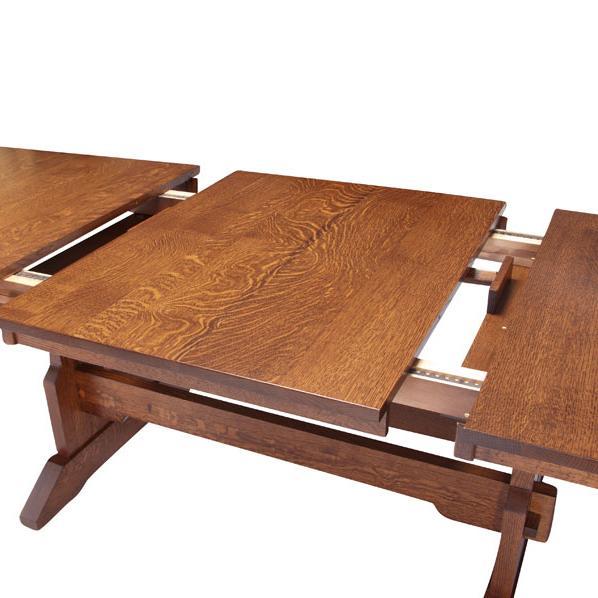 Simply Amish Maryan Msct Tt4272 B Franklin Trestle Table W