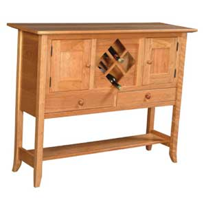 Simply Amish Shaker Amish Hill Sideboard Wine Rack