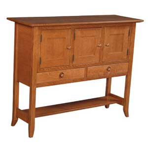 Simply Amish Shaker Amish \3-Door Sideboard