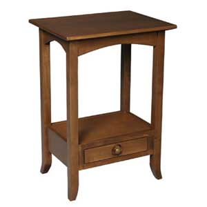Simply Amish Shaker Amish Telephone Table