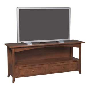 Simply Amish Shaker Amish Hill 2-Drawer TV Stand