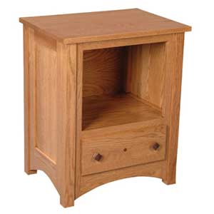 Simply Amish Royal Mission Nightstand with Opening