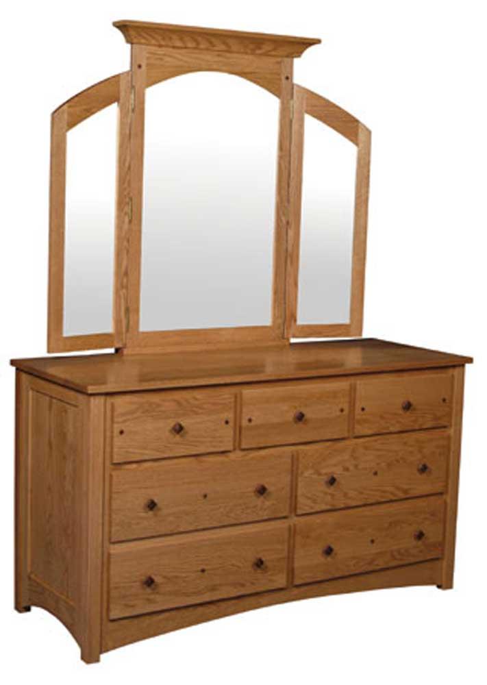 7-Drawer Dresser and Mirror