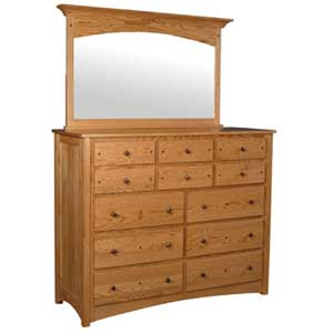 Simply Amish Royal Mission 12-Drawer Bureau