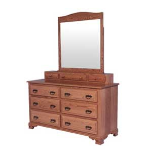 Simply Amish Classic Dresser and Vanity Mirror