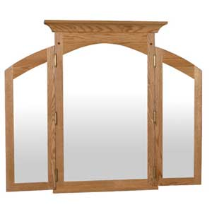 Simply Amish Royal Mission Tri-View Mirror
