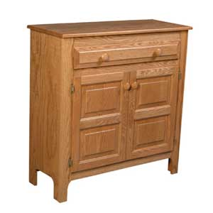Simply Amish Country 1-Drawer Pie Safe