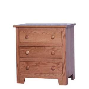 Simply Amish Shaker Amish Bedside Chest