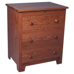 Simply Amish Shaker Amish Deluxe Bedside Chest