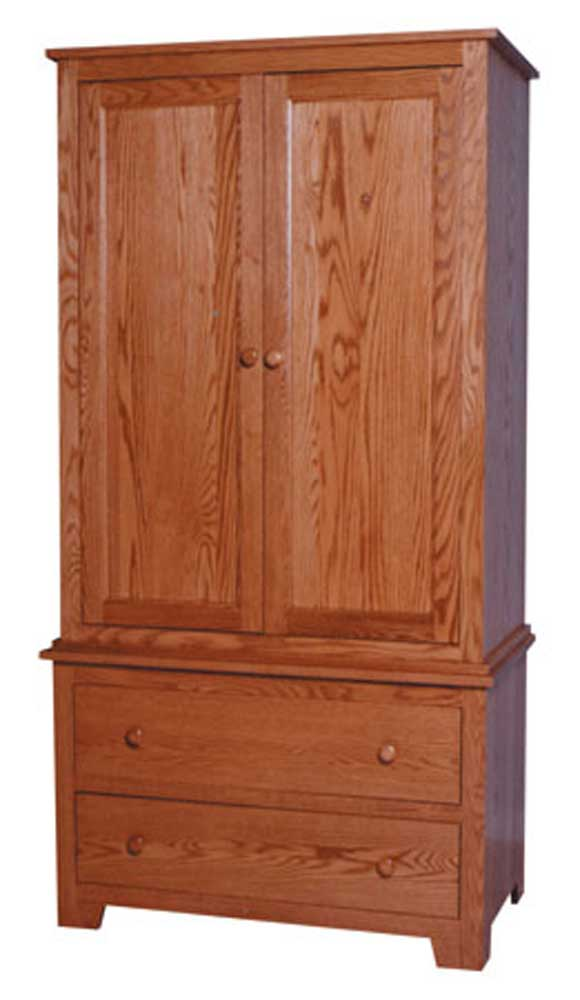 Simply Amish Shaker Amish Shaker Armoire on Chest ...