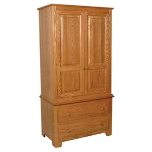 Simply Amish Homestead Amish Tall Armoire on Chest