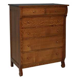 Simply Amish Empire 6 Drawer Chest