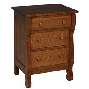 Simply Amish Empire Bedside Chest