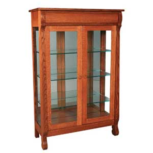 Simply Amish Empire Display Cabinet