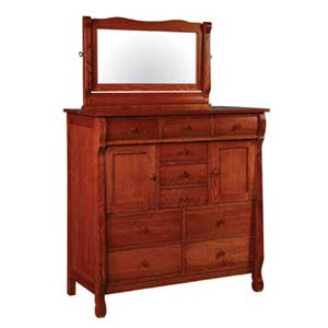 Simply Amish Empire His and Her Chest and Beveled Mirror