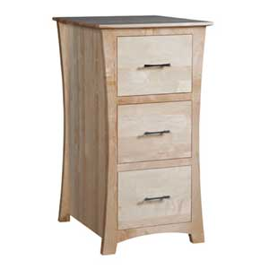 Simply Amish Loft 3-Drawer File Cabinet