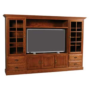 Simply Amish Classic Wall Unit Entertainment Center