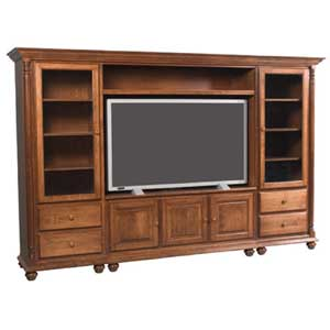 Simply Amish Savannah Wall Unit Entertainment Center