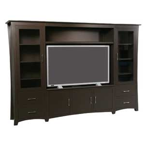 Simply Amish Loft Wall Unit Entertainment Center
