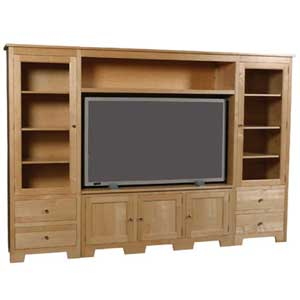 Simply Amish Shaker Amish Wall Unit Entertainment Center