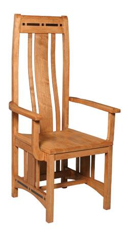 Wood Seat Aspen Arm Chair