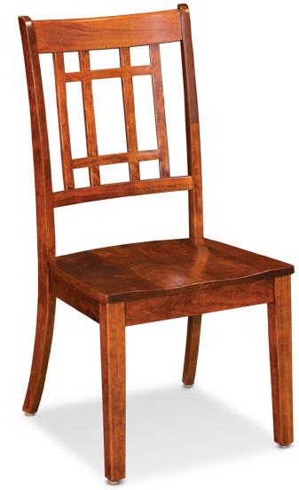 Simply Amish Shenandoah Campbell Side Chair - Item Number: XK26-ECCAM-02A-W-C26
